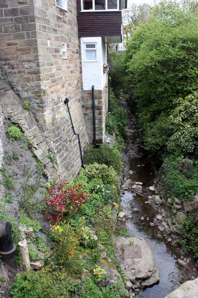 Looking down the beck